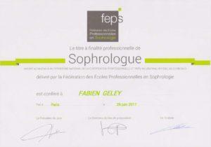 diplome sophrologue Fabien Geley landes sud ouest RNCP