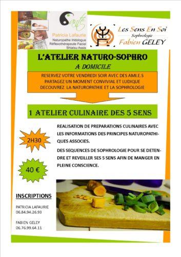 L'Atelier Naturo-Sophro : Atelier culinaire des 5 sens