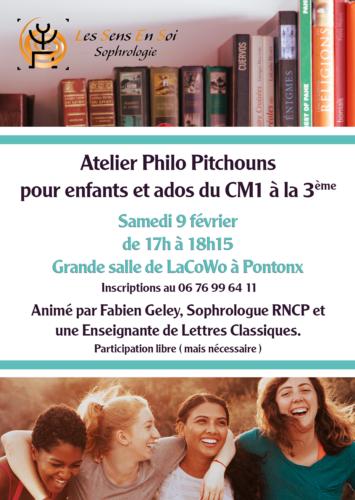 Atelier Philo Pitchouns – Samedi 9 février